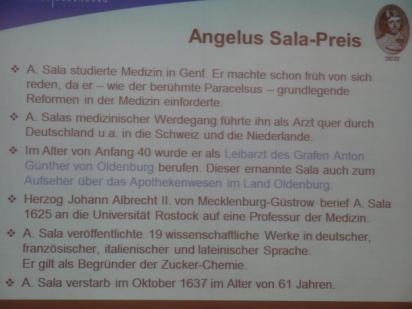 Verleihung des Angelus Sala-Preises an Lukas Gamers