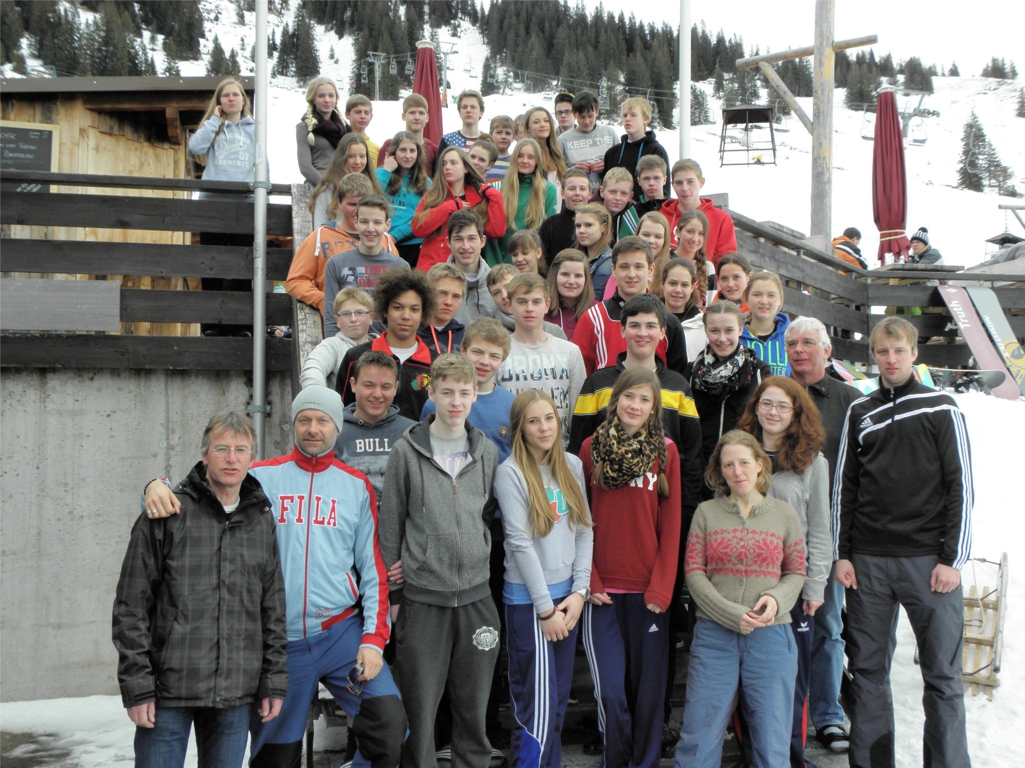 AMG-Schüler zur Skifreizeit in den Alpen