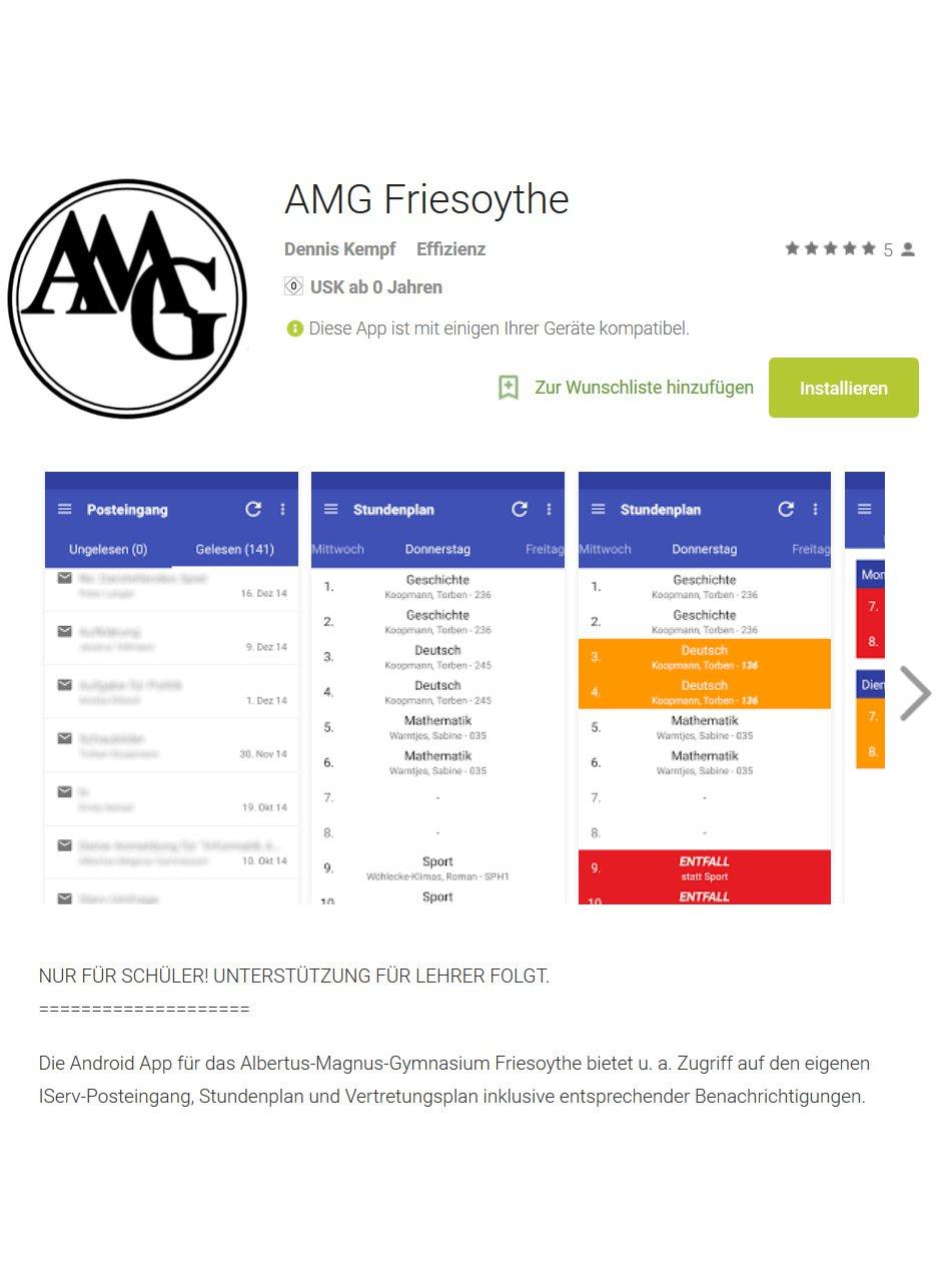 AMG Friesoythe App für Android bereits jetzt nutzen !!!