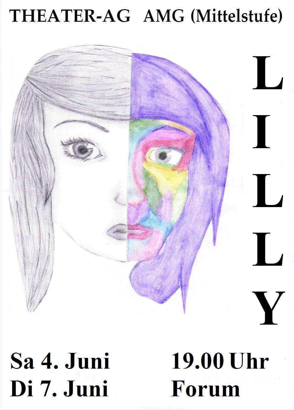 """""""Lilly"""" – Theateraufführung der Mittelstufe am 4. und 7. Juni um 19 Uhr im Forum"""