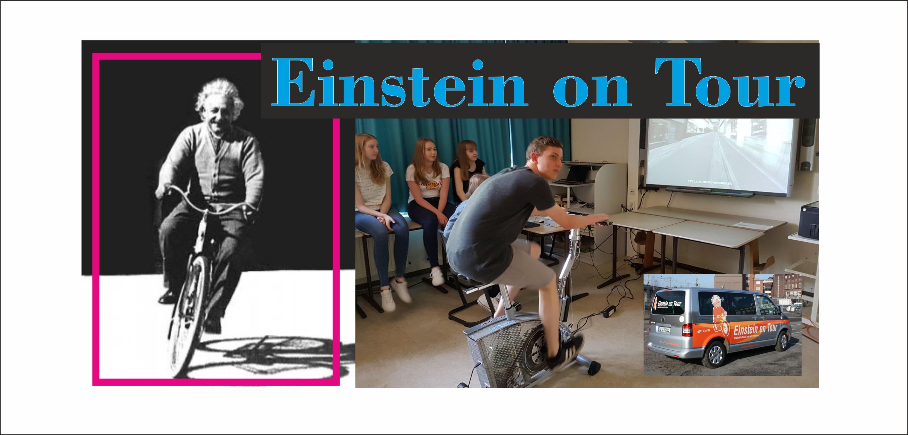 Das Einsteinmobil macht Halt am AMG