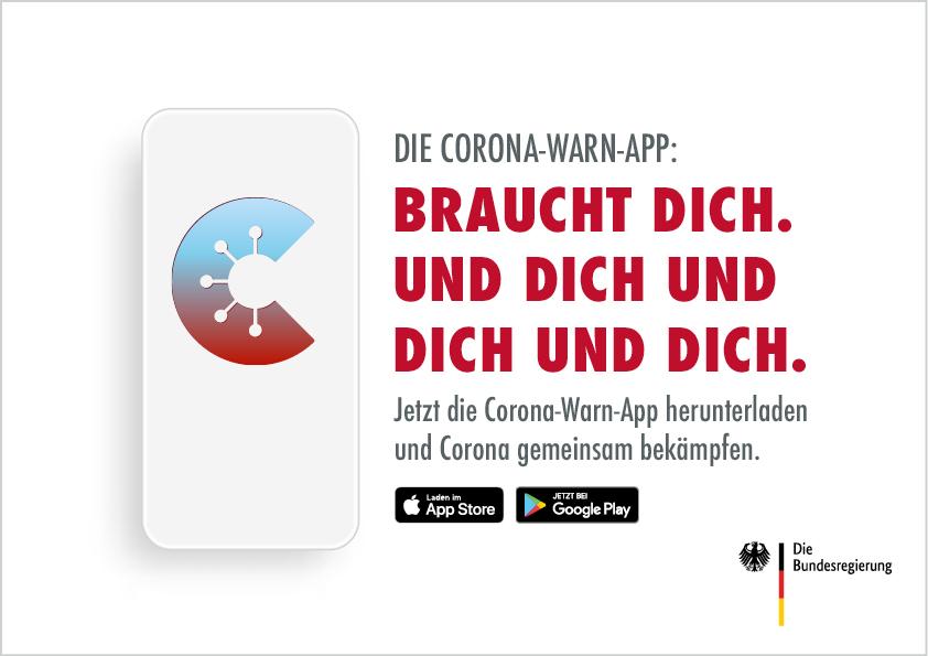 Empfehlung der Corona-Warn-App